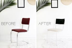 Старый стул перестал вписываться в интерьер, и я решила его переделать. Вышло очень красиво, он такой же удобный и стильный