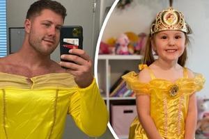 Ради дочери готов на все: маленькая дочь попросила отца одеться как принцесса. Мужчина долго раздумывать не стал