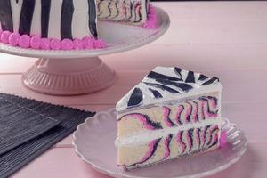 """Испекла яркий и красочный торт """"Зебра"""" дочке на день рождения"""