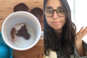 Девушка попыталась приготовить какао-бомбочку по рецепту, завирусившемуся в TikTok, и с треском провалилась
