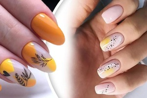 Желтый и горчичный цвета отлично подходят для осеннего маникюра: стильные варианты