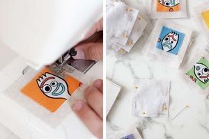Из кусочков ткани сделала дома игру для развития памяти. Дети в восторге, и ее удобно брать с собой