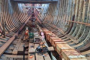 Деревянный грузовой корабль будет самым большим в мире судном, работающим на энергии ветра и солнца