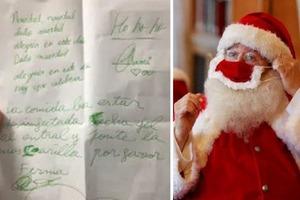 Восьмилетний мальчик из Испании написал письмо Санта-Клаусу и попросил его обрабатывать руки антисептиком, прежде чем заходить в дом
