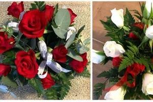 Центральный элемент из 11 цветов. Для создания рождественского букета потребуется несколько зеленых веточек из сада: пошаговый мастер-класс