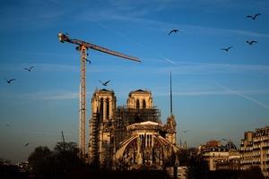 Реконструкция собора Нотр-Дам-де-Пари достигла важного этапа после разрушения пожаром в апреле 2019 года