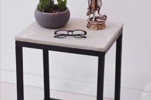 Сделал столик в стиле лофт из дерева и бетона: выглядит не хуже тех, что на металлическом каркасе