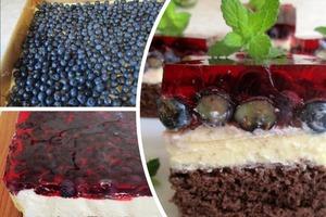 """Простой в приготовлении бисквитный торт """"Черничка"""" понравится любителям лесных ягод и желе: рецепт"""