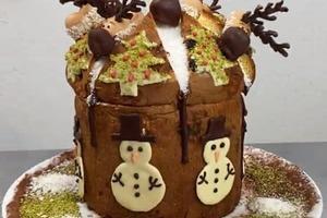 Новый год прошел, но застолья еще не закончились: готовим тематический десерт из большого кулича и сыра