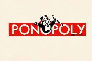 """Иллюстратор из Сингапура делает знаменитые логотипы веселыми и милыми, просто добавляя на них панд (меня больше всего умиляет """"Понополия"""")"""