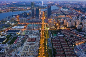 В Шанхае построили красивый парк на взлетно-посадочной полосе бывшего аэропорта Лунхуа