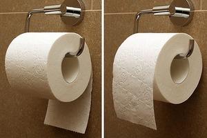 А как вы вешаете бумагу? Простой вопрос может многое сказать о вашей личности