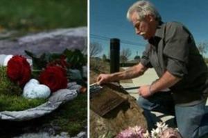 Мужчина 13 лет ходил к месту гибели сына и зажигал свечи. Однажды обнаружил там записку