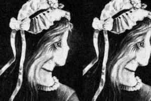 Старый рисунок скрывает оптическую иллюзию, но практически никто не видит ее, пока не услышит подсказку
