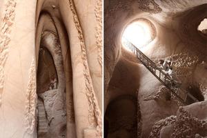 75-летний мужчина 25 лет живет в пещере, интерьер которой превратил в настоящее произведение искусства