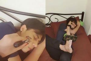 Парень делал снимки, пытаясь доказать, что у него есть девушка, и рассмешил Интернет