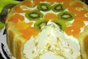 Без выпекания, быстро и даже рецепт не нужен. Летний фруктовый торт, который каждому придется по вкусу
