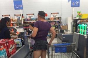 Смешная подборка фотографий необычных посетителей супермаркета