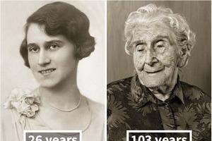 Взгляд в прошлое: 100-летние долгожители в молодости и сейчас