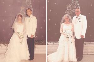 Пары воссоздали сцены из старых фотографий: получилось очень интересно