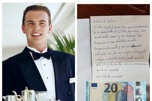 Клиент ушел, не оплатив счет. Через два дня официант получил от него письмо