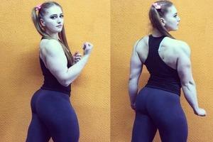 Россиянка Юлия Винс с кукольным лицом и телом «Халка» (фото)