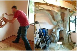 Отец больше года мастерил для дочки сказочную комнату с чудо-деревом: результат превзошел все ожидания (фото)