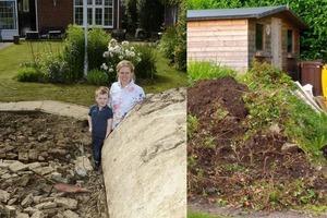 3 года назад супруги купили дом. Во время уборки мусора в своем саду они нашли заброшенное бетонное сооружение