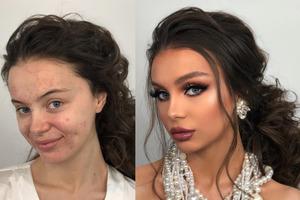 Фото, которые показывают, как выглядят невесты до и после свадебного макияжа