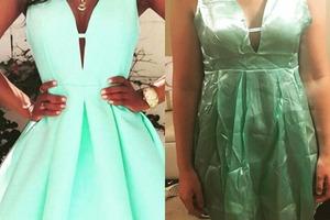 Люди, которые хотели сэкономить на покупке платья через Интернет, делятся фото