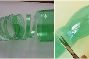 Знакомая взяла пластиковые бутылки и разрезала их на длинные полоски: результат (фото)