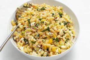 Часто готовлю вкусный салат из макарон. Спасибо тете за рецепт