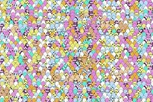 Среди пасхальных яиц прячется мопс. 95 % людей не могут его найти
