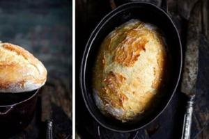 Вечером перемешиваю ингредиенты и оставляю на ночь: утром выпекаю пышный и ароматный хлеб