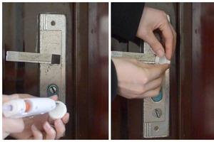 Мужчина показал, зачем приклеил крышку от пластиковой бутылки к ручке двери