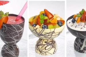 На праздник детям делаю съедобные шоколадные миски при помощи воздушного шара: дети в восторге от такой сладкой посуды