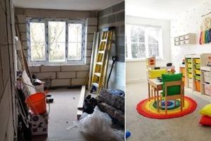 25-летняя мама превратила гараж в красочную игровую комнату для детей: фото