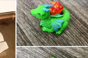 Как слепить из пластилина или запекаемой глины дракончика: фото по шагам