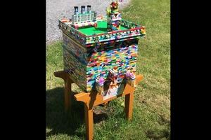 """Пока другие скучали в карантине, пчеловод собрал настоящий улей из кубиков """"Лего"""" - пчелам он понравился"""