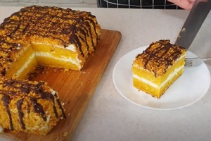 Готовлю морковный торт без особых хлопот. Получается очень вкусным, а гости не догадываются из чего он