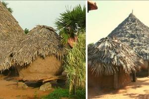 С виду невзрачный домик способен выстоять в суровый циклон: секрет - в особом использовании грязи, извести и бамбука