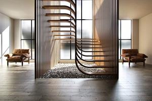 Лестница в виде ДНК: фото креативного решения для украшения двухэтажного дома