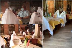 Ресторанчик в Мичигане использует «призраков» для соблюдения дистанции: идея получила положительные отзывы клиентов