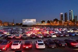 Более 200 владельцев Porsche посетили кинотеатр под открытым небом в Мадриде