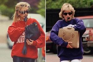Что может быть общего у принцессы Дианы и Хейли Бибер? Только безупречное чувство стиля: фото, на которых принцесса и модель одеты идентично