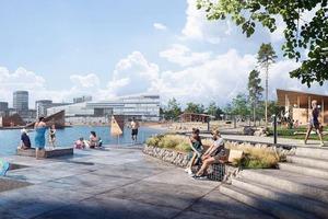 Сауна, места для пикника, прокат каяков: в 2023 году в Норвегии откроется бассейн в форме морской звезды - часть нового пляжного парка