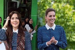 Кейт Миддлтон и принцесса Дании Мэри - модные близнецы. Они часто выбирают почти одинаковые наряды!