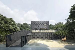 Архитекторы спроектировали слегка приподнятый дом с учетом возможного повышения уровня моря в регионе: наводнения ему не страшны