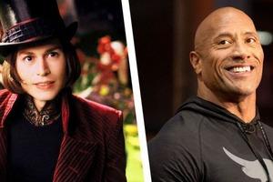 """Дуэйн Джонсон рассказал, как Тим Бертон хотел снять его в """"Чарли и шоколадной фабрике"""": в итоге роль Вилли Вонки получил Джонни Депп"""
