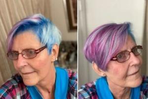 74-летняя женщина решила перекрасить волосы в яркий цвет. Десятки женщин в возрасте поделились таким же опытом
